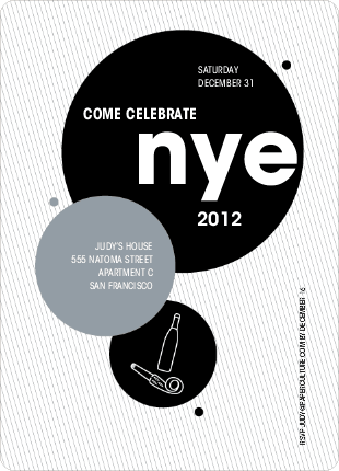 New Year's Eve Party Invitations - Black