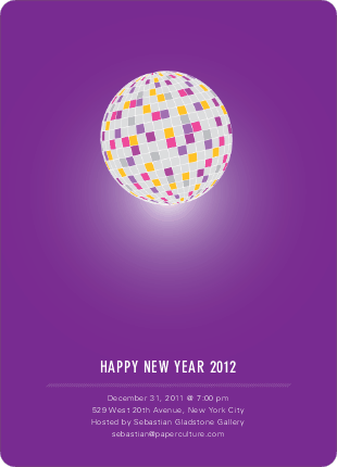 New Year's Party Invitation - Plum