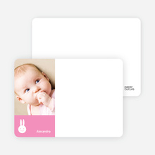 Bunny Photo Card Stationery - Hot Pink