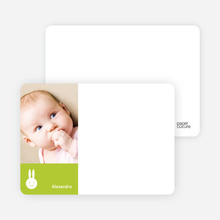 Not Bugs Bunny, Far Cuter Personalized Photo Card Stationery - Lime Green