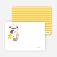 Animal Mobile Note Cards - Cotton Candy