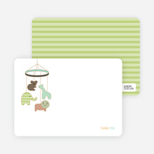 Animal Mobile Note Cards - Mint