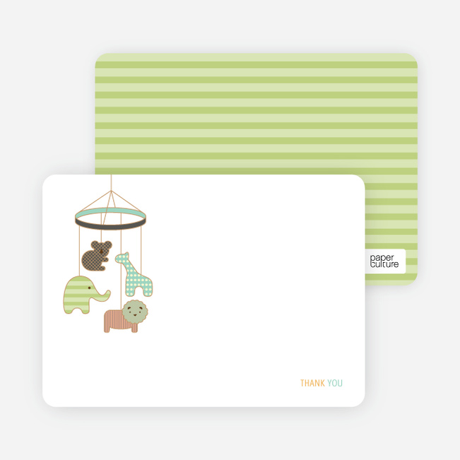 Note Cards: 'Animal Mobile' cards. - Mint