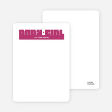 Bold Modern Girls' Notecard - Violet Red