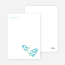Butterfly Party Notecards - Periwinkle Blue