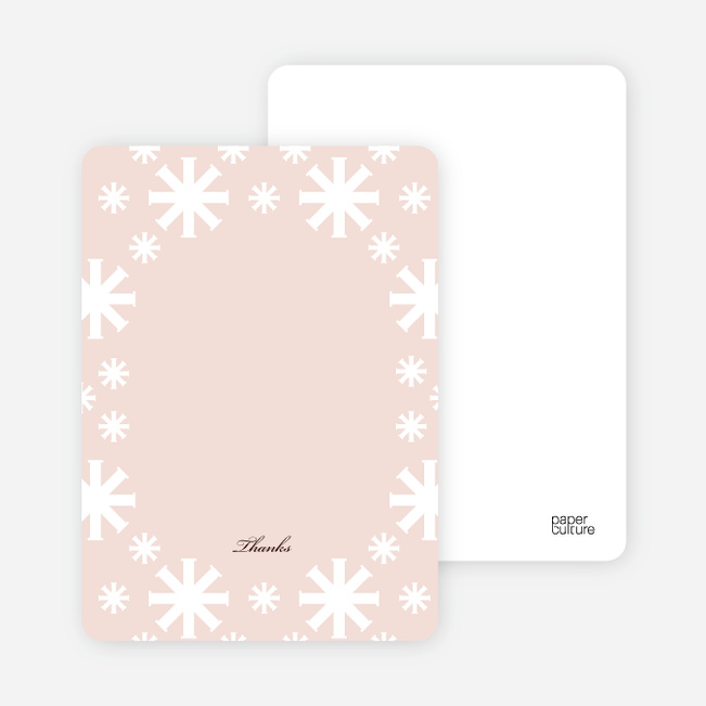 Note Cards: 'Crossing Crosses Baptism Invitation' cards. - Pink