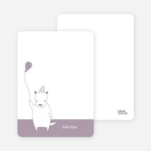 Dog Themed Note Invitation - Light Eggplant