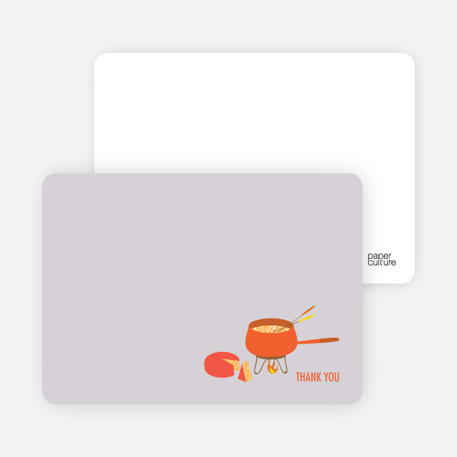 Note Cards: 'Fondue Party' cards. - Carrot
