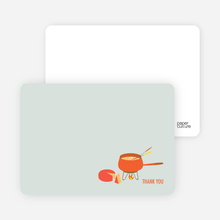 Note Cards: 'Fondue Party' cards. - Grape