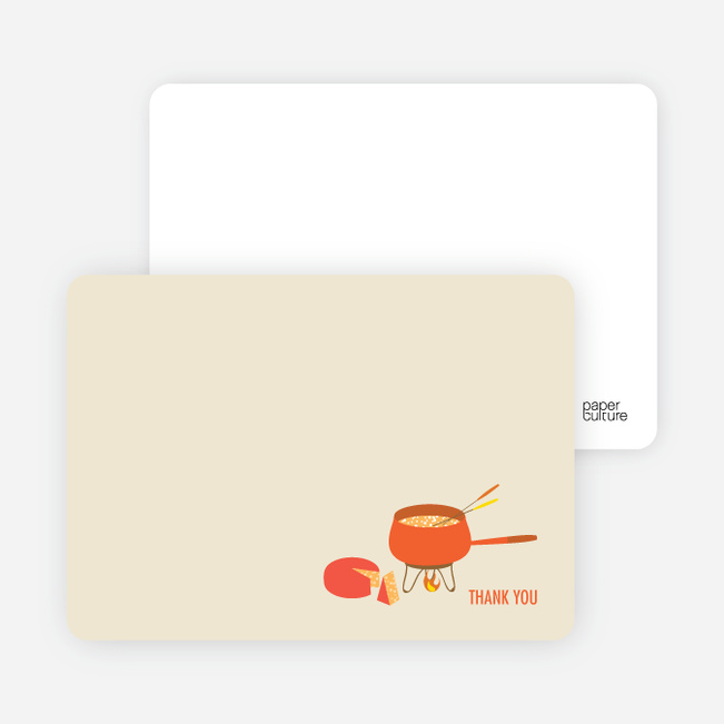 Note Cards: 'Fondue Party' cards. - Espresso