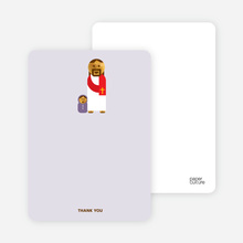 Note Cards: 'Jesus and Baby Baptism Invitation' cards. - Pale Purple