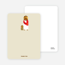Note Cards: 'Jesus and Baby Baptism Invitation' cards. - Beige
