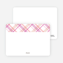 Mad Plaid Multi Note Cards - Cotton Candy