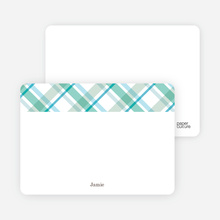 Mad Plaid Multi Note Cards - Aquamarine