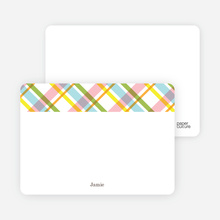 Mad Plaid Multi Note Cards - Asparagus