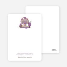 Nativity Scene Holiday Card - Lavender