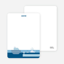 Note Cards: 'One Fish Two Fish Three Fish More' cards. - Cobalt Blue