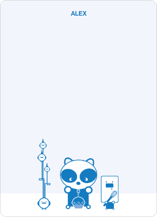 Note Cards: 'Panda Cupcake Birthday' cards. - Royal Blue