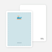 Quilted Whale Note Cards - Pale Blue