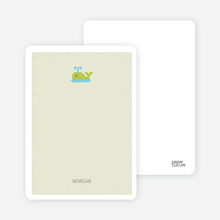 Quilted Whale Note Cards - Pale Green