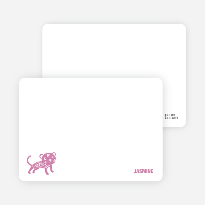Note Cards: 'Simply Tiger' cards. - Violet