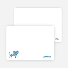 Note Cards: 'Simply Tiger' cards. - Cadet Blue