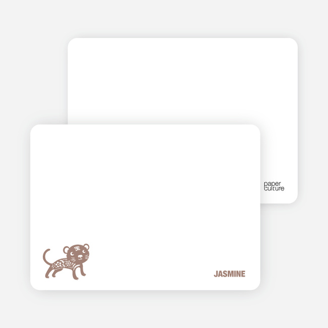 Note Cards: 'Simply Tiger' cards. - Caf� Au Lait