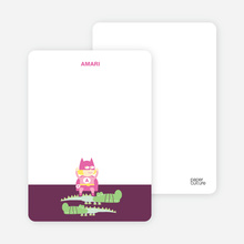 Note Cards: 'Super Heroine Triumphs Again!' cards. - Raspberry