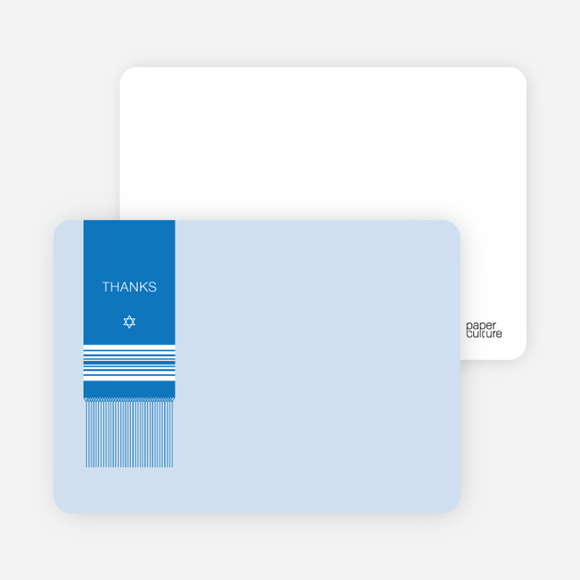 Note Cards: 'Tallit Prayer Shawl' cards. - Cornflower Blue
