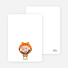 Tiger: Animal Note Head - Carrot Orange