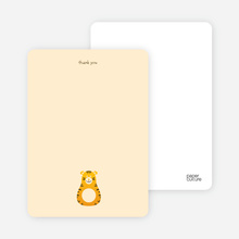 Note Cards: 'Tiger Chew Toy' cards. - Tangerine