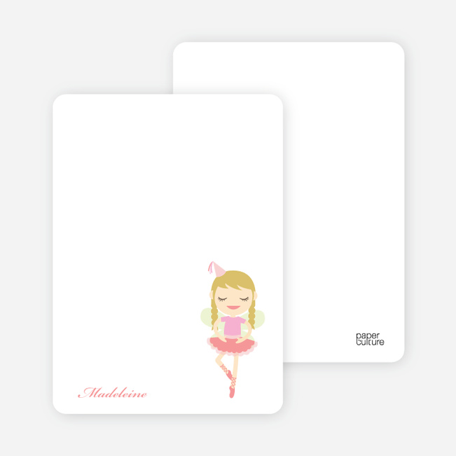 Notecards for the 'Ballerina Diva' cards. - Cotton Candy