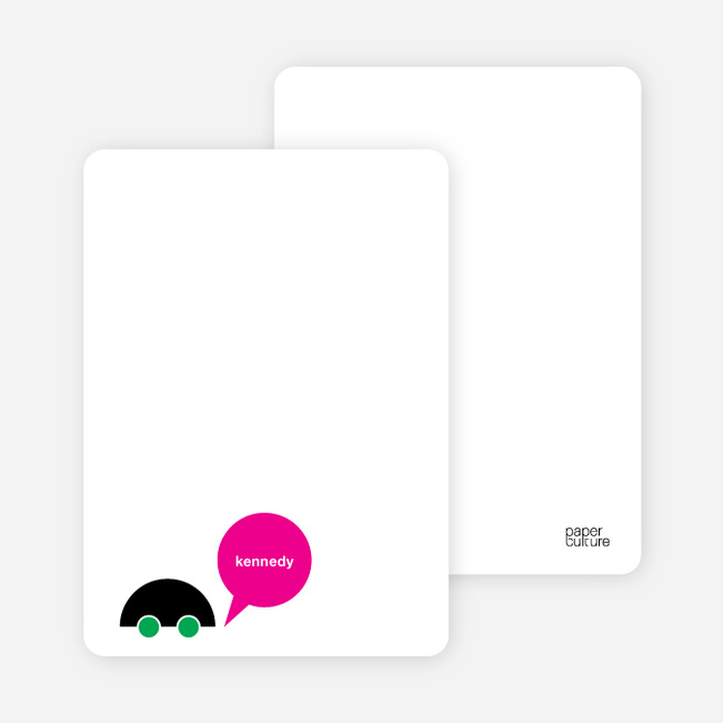 Notecards for the 'Beep Beep, Vroom Vroom' cards. - Green