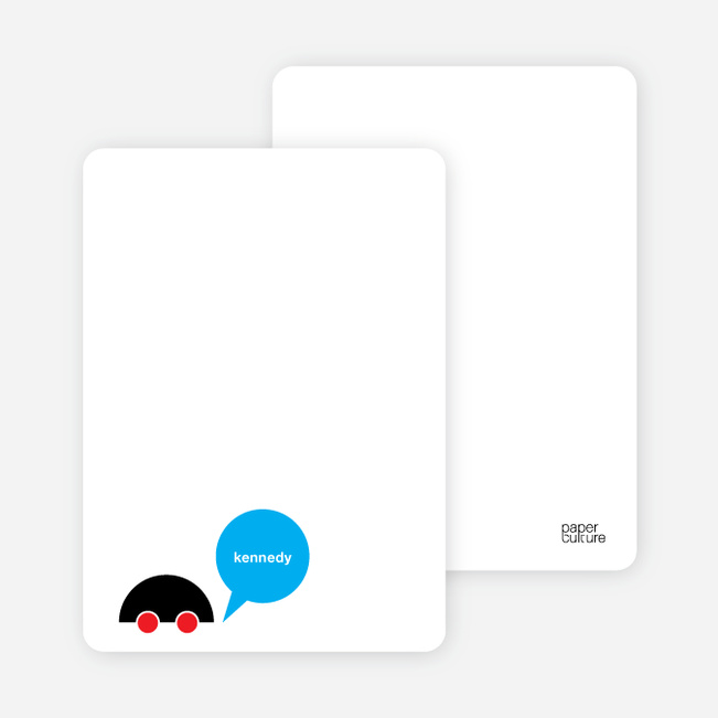 Notecards for the 'Beep Beep, Vroom Vroom' cards. - Bright Red