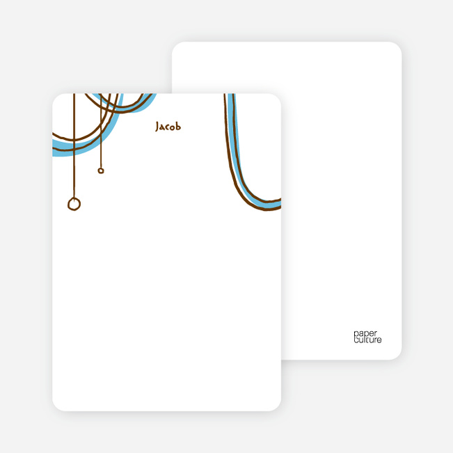 Notecards for the 'Birthday Celebration' cards. - Columbia Blue