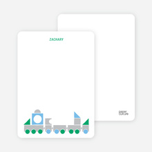 Notecards for the 'Choo Choo Train Arrival' cards. - Green