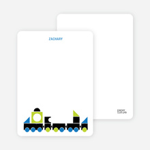 Notecards for the 'Choo Choo Train Arrival' cards. - Dark Grey