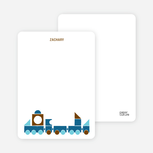 Notecards for the 'Choo Choo Train Arrival' cards. - Coffee