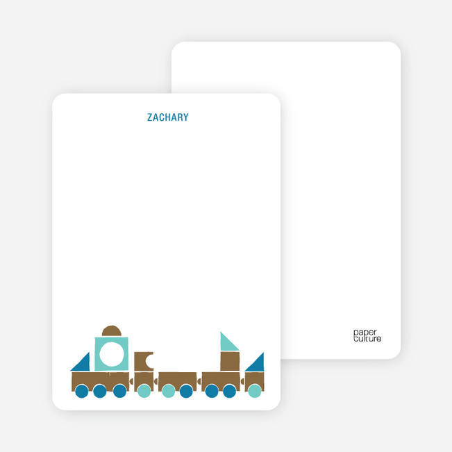Notecards for the 'Choo Choo Train Arrival' cards. - Burly Wood