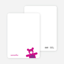 Cuddly Teddy Bear Note Cards - Purple