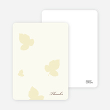 Elegant Leaves Bridal Shower Note Cards - Pale Chiffon