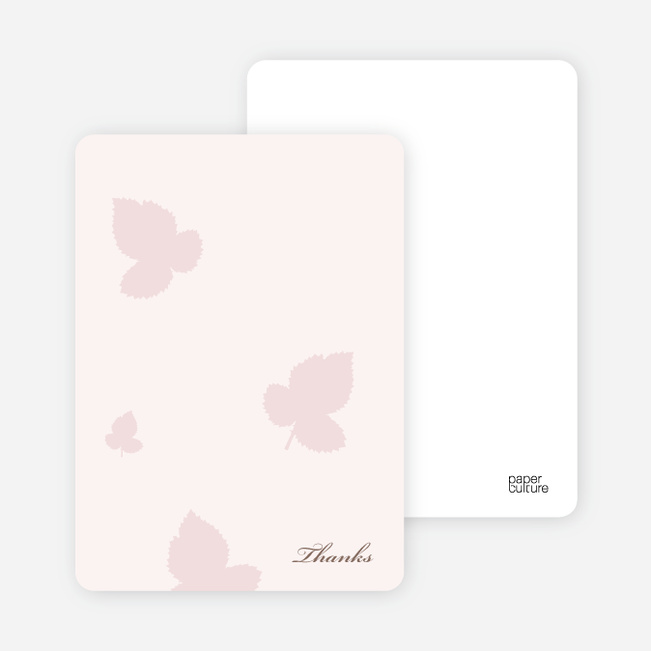 Notecards for the 'Elegant Leaves Bridal Shower' cards. - Blush