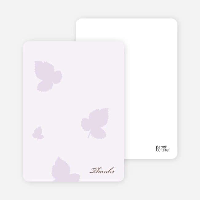 Notecards for the 'Elegant Leaves Bridal Shower' cards. - Wisteria