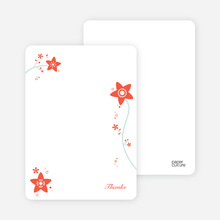 Notecards for the 'Floral Baptism Invitation' cards. - Orange