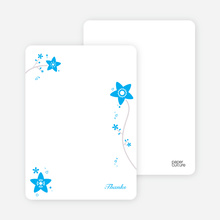 Notecards for the 'Floral Baptism Invitation' cards. - Sky Blue