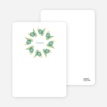 Notecards for the 'Flower Wreath Bridal Shower' cards. - Teal