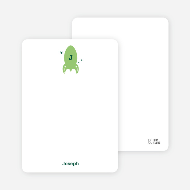 Notecards for the 'Intergalactic Party' cards. - Forest Green