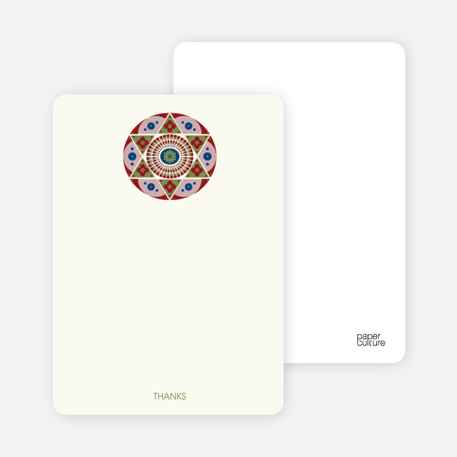 Notecards for the 'Ornate Star of David' cards. - Buttercup