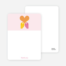 Owls in Love Bridal Shower Note Cards - Hot Pink