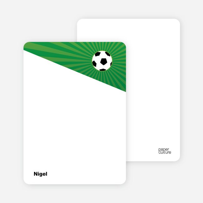 Notecards for the 'Soccer Kick' cards. - Fluorescent Green